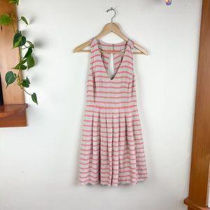 Banana Republic Coral Striped Linen Dress 4